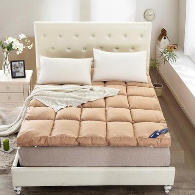2019款床垫-纯色羽丝绒床垫 0.9*2.0 驼色