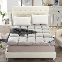 2018款床垫-纯色羽丝绒床垫 0.9*2.0 灰色