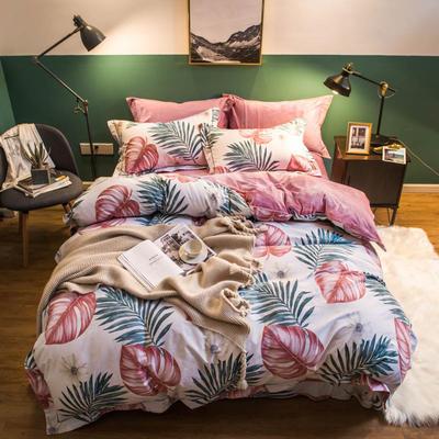 2018新款全棉加绒保暖四件套 1.8m(6英尺)床 恬静风情