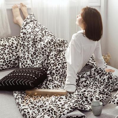 2019新款全棉ins风夏被四件套 48cmx74cm单枕套/对 豹纹