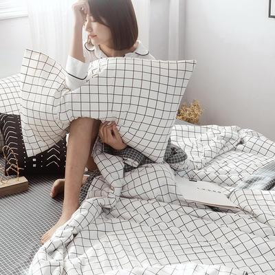 2019新款全棉ins风夏被四件套 48cmx74cm单枕套/对 丹妮