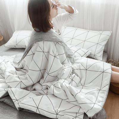 2019新款全棉ins风夏被四件套 48cmx74cm单枕套/对 几何情怀