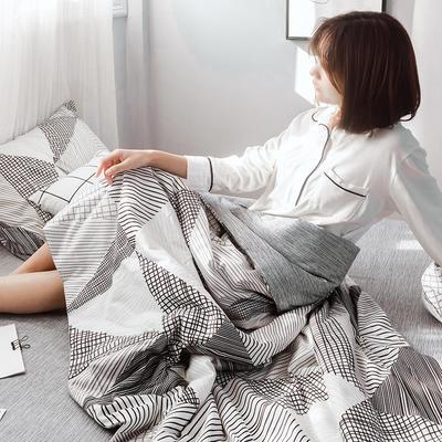 2019新款全棉ins风夏被四件套 48cmx74cm单枕套/对 摩卡