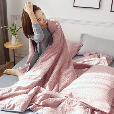 2019新款全棉色织水洗棉夏被四件套 48cmx74cm单枕套/只 巴比伦