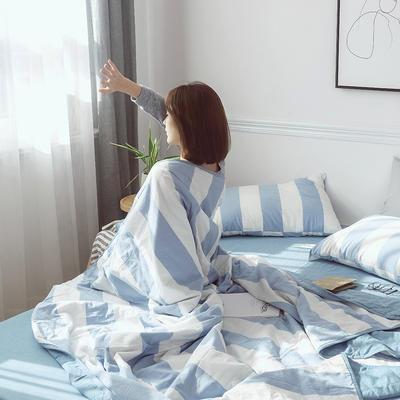 2019新款全棉色织水洗棉夏被四件套 48cmx74cm单枕套/只 罗马