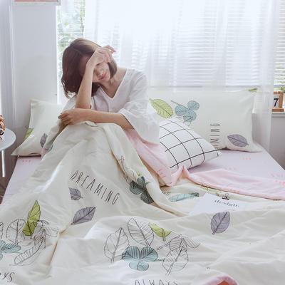 2019新款全棉印花夏被 150x200cm 奇幻花叶