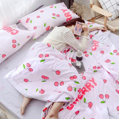 2019新款全棉印花夏被 150x200cm 樱桃