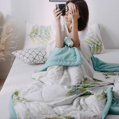 2019新款水洗棉印花AB版夏被 150x200cm 清新世界