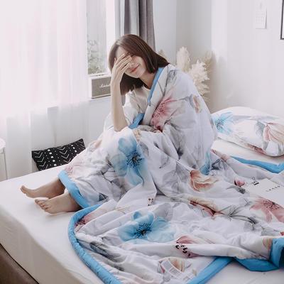 2019新款水洗棉印花AB版夏被 150x200cm 一枝独秀