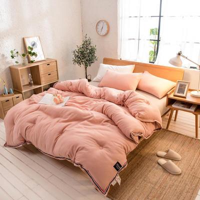 2018新款北欧纯色水洗棉冬被 150x200cm(4斤) 玉色