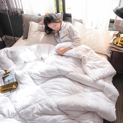 2018新款全棉棉花冬被 150x200cm4斤 白色