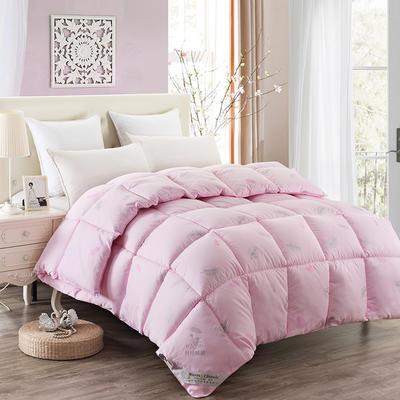 2018款纤丝鹅绒被 1.5*2.0 粉色