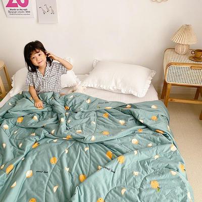 2020新款A类针织棉夏被 150x200cm 炫彩果园