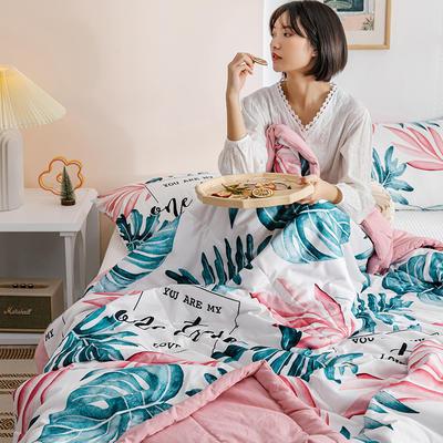 2020新款水洗棉印花夏被 100x150cm 花之语