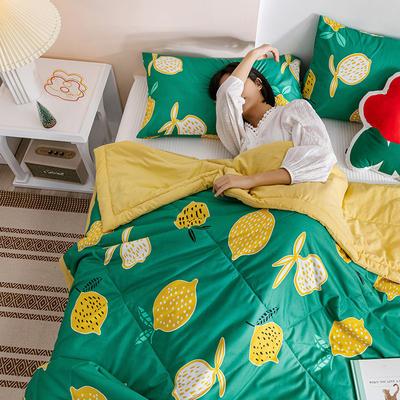 2020新款水洗棉印花夏被 150x200cm 青涩柠檬