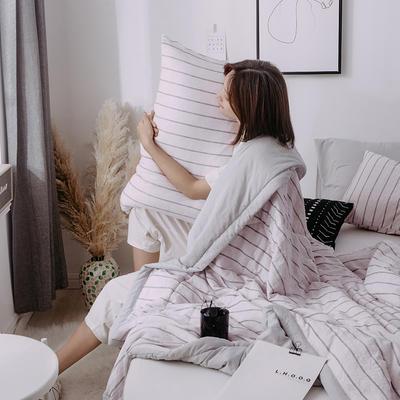 2020新款水洗棉印花夏被 150x200cm 条纹世界