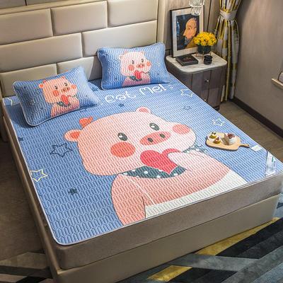 2020新款大版乳胶凉感空调软席 150X200cm 爱心小猪
