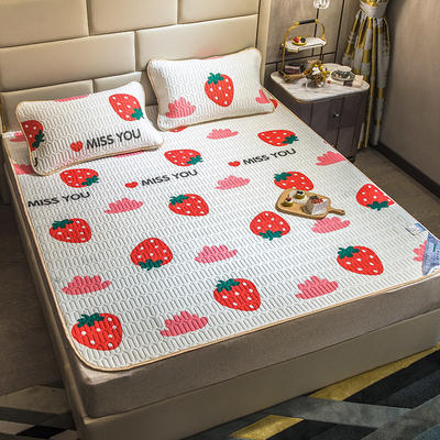 2020新款乳胶凉感空调软席 90X200cm 红草莓