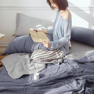 2020新款全棉色织水洗棉夏被四件套 1.2m床单款夏被三件套 都市情怀