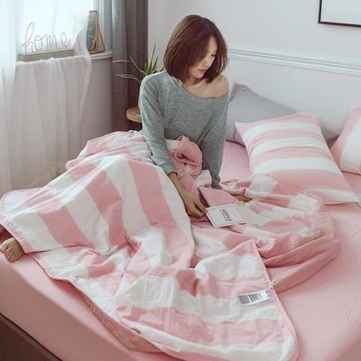 2020新款全棉色织水洗棉夏被四件套 1.2m床单款夏被三件套 慢调时光