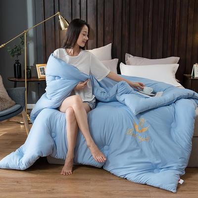 2020新款皇冠绣花冬被系列 150x200cm(3斤) 皇冠-蓝