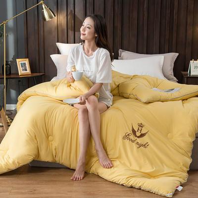2020新款皇冠绣花冬被系列 150x200cm(3斤) 皇冠-柠檬黄
