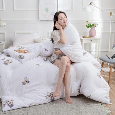 2020新款棉花被冬被被子被芯-朵棉系列 150x200cm5斤 棉朵-白