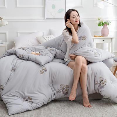 2020新款棉花被冬被被子被芯-朵棉系列 150x200cm5斤 棉朵-灰