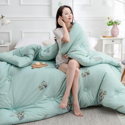 2020新款棉花被冬被被子被芯-朵棉系列 150x200cm5斤 棉朵-绿
