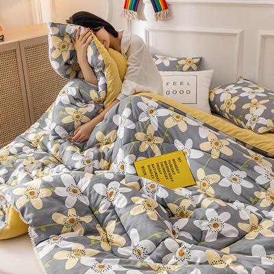 2020新款全棉印花被芯冬被被子 150x200cm3斤 花香