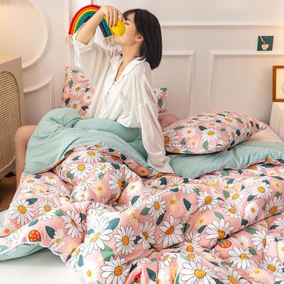 2020新款全棉印花被芯冬被被子 150x200cm3斤 暖暖心