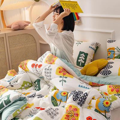 2020新款全棉印花被芯冬被被子 150x200cm3斤 幸福之源