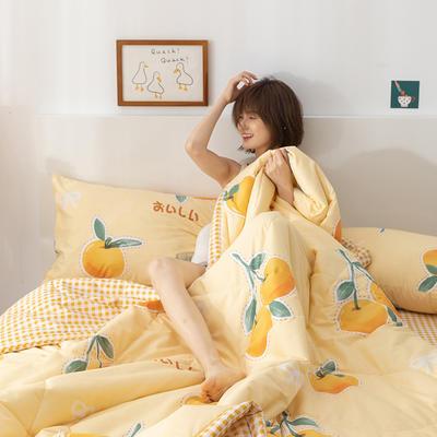 2021新款全棉印花夏被 180x200cm2.4斤夏被 大橘大利