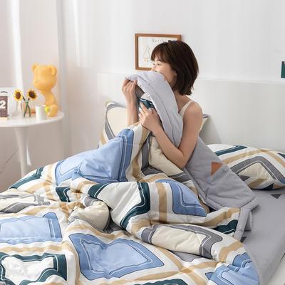 2021新款全棉印花夏被 180x200cm2.4斤夏被 曼格