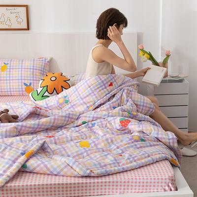 2021新款全棉印花夏被 180x200cm2.4斤夏被 少女日记