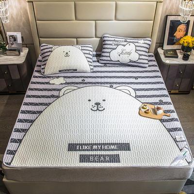 2021新款大版乳胶凉席三件套 90x200cm 大熊