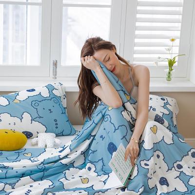 2021新款凉感丝大豆夏凉被 180x200cm 可爱蓝熊