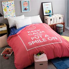 全棉专版13372加厚系列单品被套 160x210cm 保持微笑