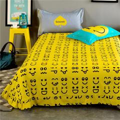全棉专版13372加厚系列 单品 床单 200cmx230cm 表情黄