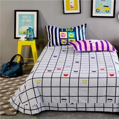 全棉专版13372加厚系列 单品 床单 200cmx230cm 爱心白