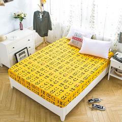 全棉专版13372加厚系列单品 床笠 150cmx200cm+30cm 表情黄
