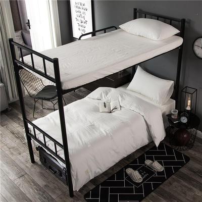 2018全棉色织致青春系列三件套 被套150*200cm*1件 床单160 白白白