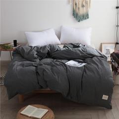 春皖全棉色织布标系列单被套 150x200cm 低调灰