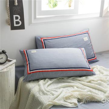全棉色织水洗棉TB单枕套