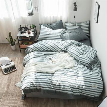 全棉色织精致北欧风系列四件套
