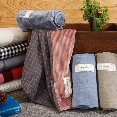 色织水洗棉+奶牛绒单枕套 48cmX74cm 枕套1只