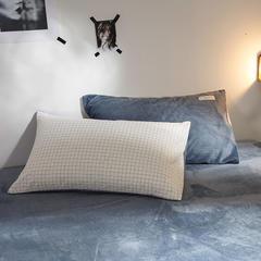 色织水洗棉+奶牛绒单枕套 48cmX74cm 纯洁