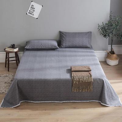 全棉老粗布床单款三件套 1.5m(5英尺)床 素雅茶
