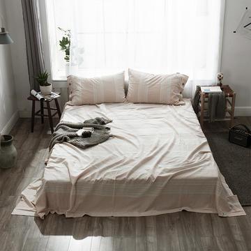 全棉棉麻风格自由棉单床单