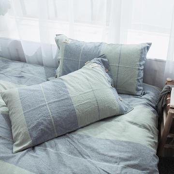 全棉棉麻风格自由棉单枕套
